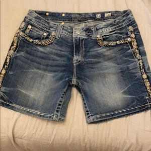 Beautiful, unique Miss Me denim shorts